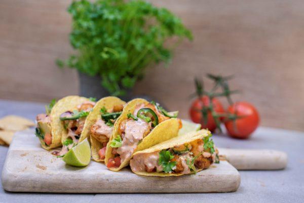 Garnalen taco's