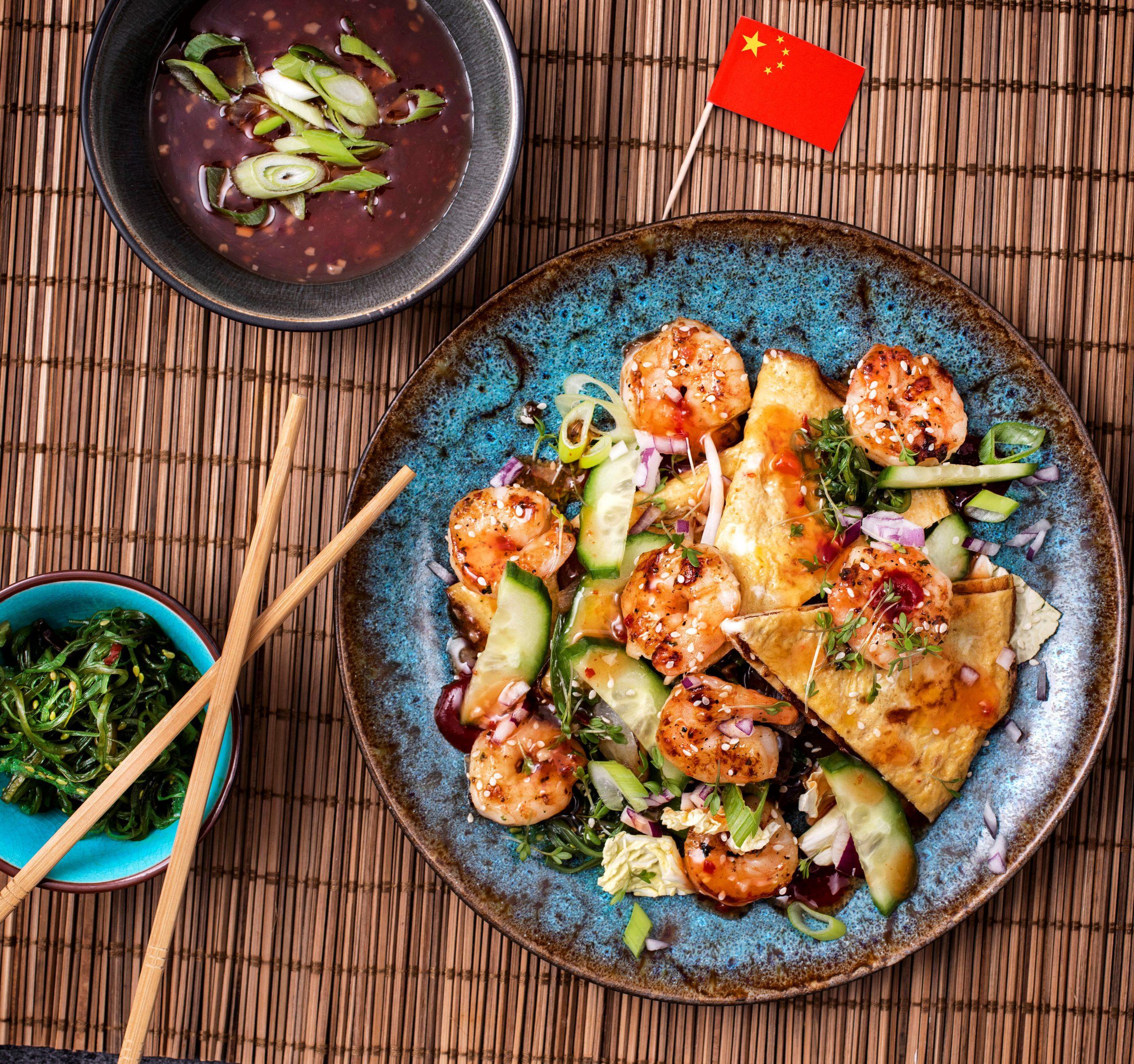 Garnalen Aziatische omelet