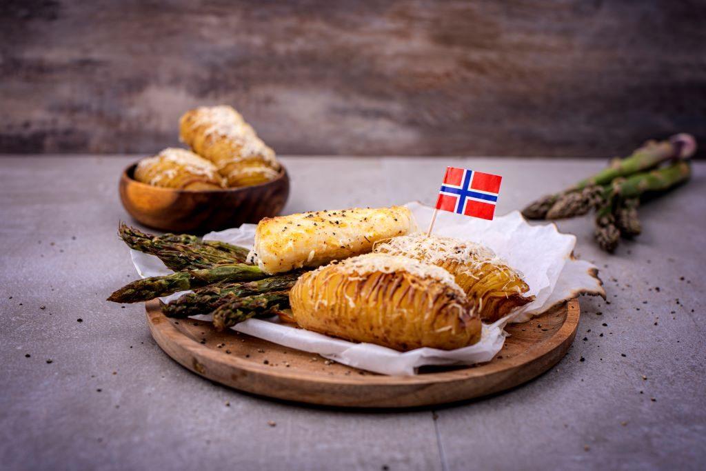 Freshly Fish - juli visbox - BBQpakketje met kabeljauw, hasselback aardappel, asperges