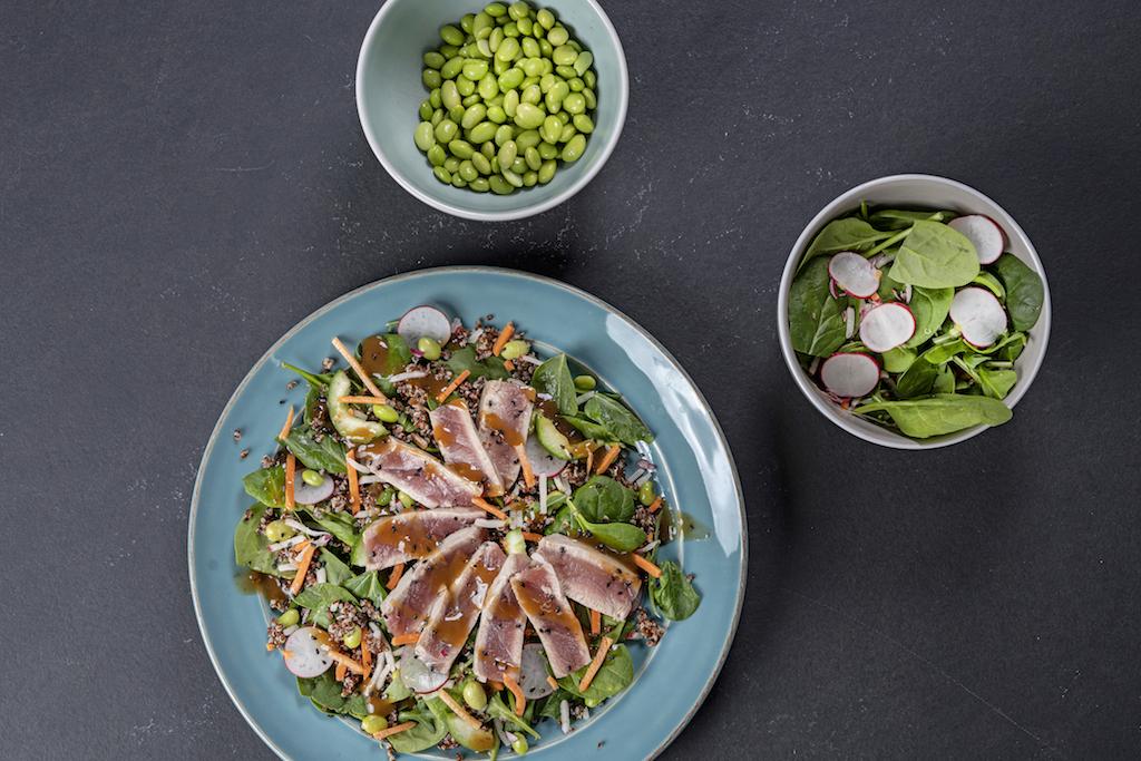 Salade met tonijn en balsamico