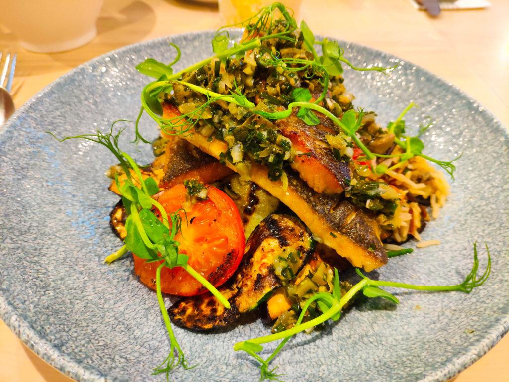 Zeebaars met couscous ratatouille