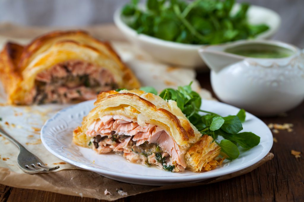 Zalm Wellington met spinazie